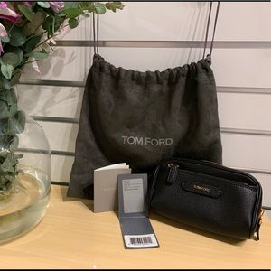 Brand new Tom Ford leather cosmetic bag